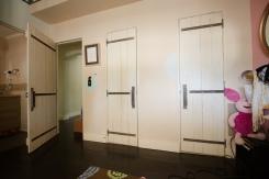 Bedroom plank doors