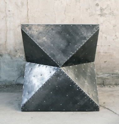 steel-clad cubodron foyer table