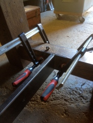Bessey bar clamps.