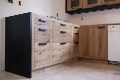 Grain Matched Drawer Fronts (reclaimed white oak)