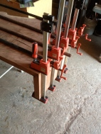 clamp the miter (with some Bessey Revos)