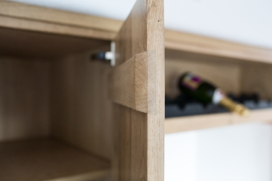 sliding dovetail cleats for the backs of door panels allowing for no-nail construction).