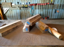 bed legs (curf cut on table saw)