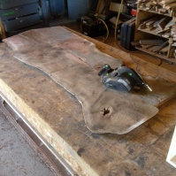 flattening with power planer